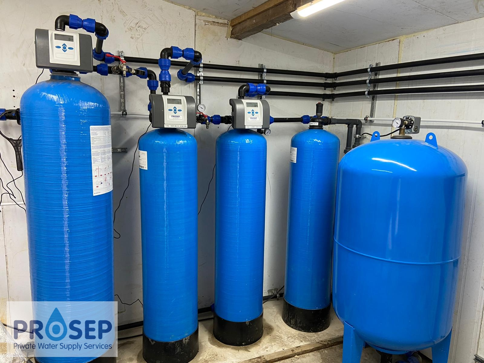 New water filtration system installation for a new build